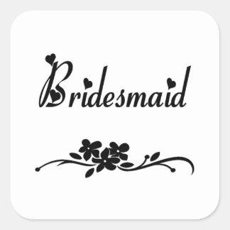 Classic Bridesmaid Sticker