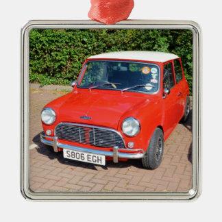 Classic British Austin Silver-Colored Square Decoration