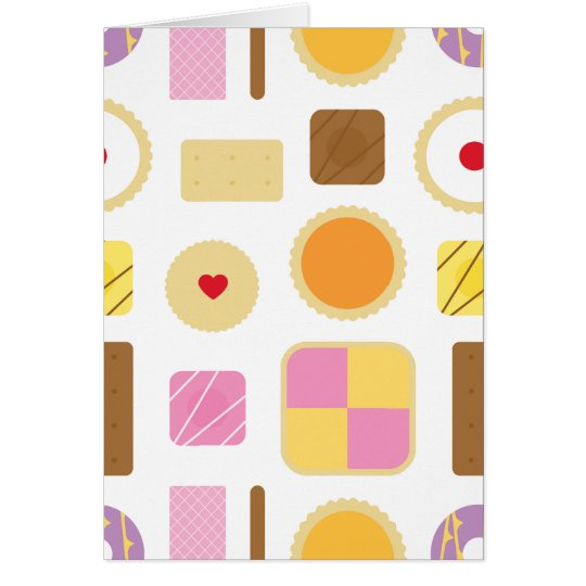 Classic British Biscuits & Cakes Greeting Card