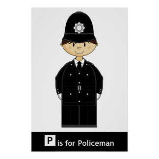 Classic British Policeman Poster