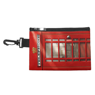 Classic British Red Telephone Box Accessories Bags