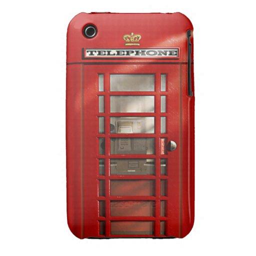Classic British Red Telephone Box iPhone 3 Covers