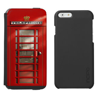 Classic British Red Telephone Box Incipio Watson™ iPhone 6 Wallet Case
