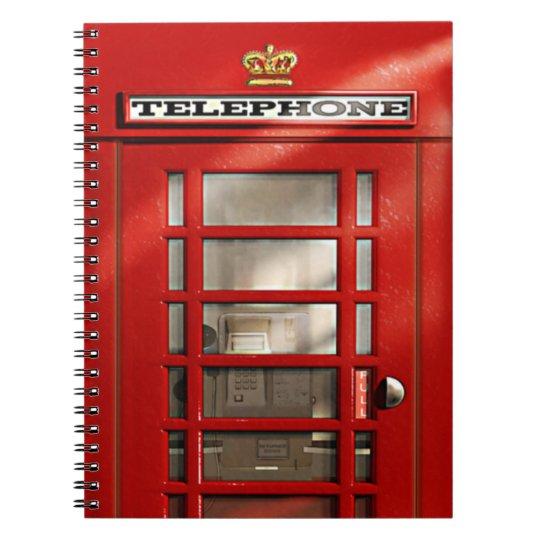 Classic British Red Telephone Box Notebooks