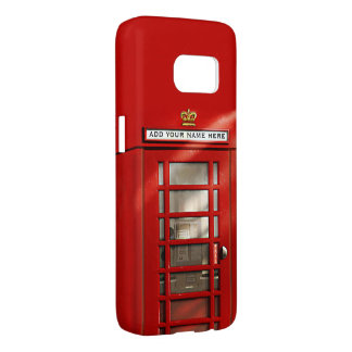 Classic British Red Telephone Box Personalized