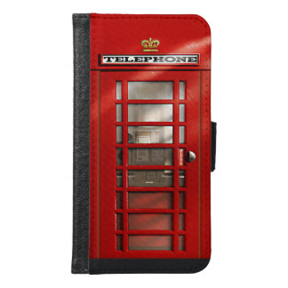 Classic British Red Telephone Box Samsung Galaxy S6 Wallet Case