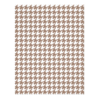 Classic Brown and White Houndstooth Pattern Flyer