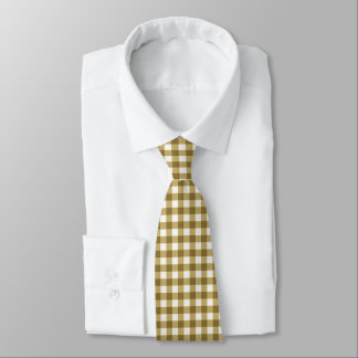 Classic Brown Gingham Tie