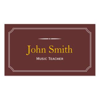 Classic Brown Music Teacher Business Card