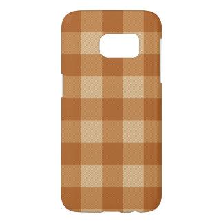 Classic brown plaid checkered cloth