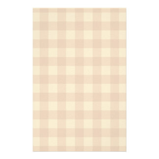 Classic brown plaid checkered cloth personalized stationery