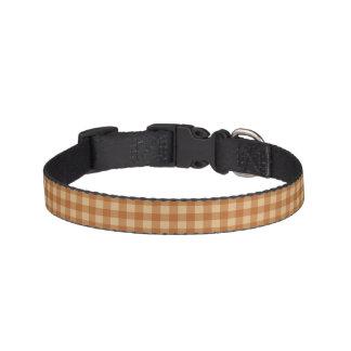 Classic brown plaid checkered cloth pet collars