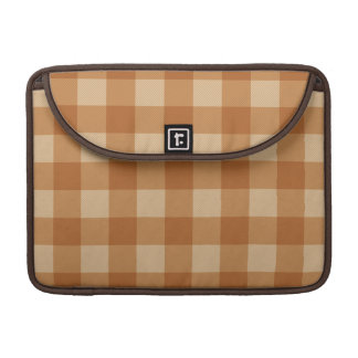 Classic brown plaid checkered cloth sleeves for MacBooks