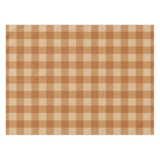 Classic brown plaid checkered cloth tablecloth