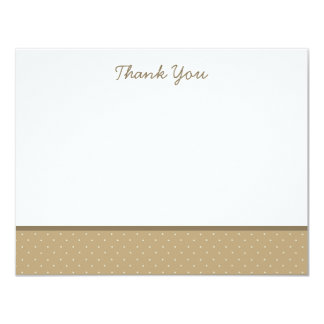 "Classic Brown Polka Dot Thank You Note Cards 4.25"" X 5.5"" Invitation Card"