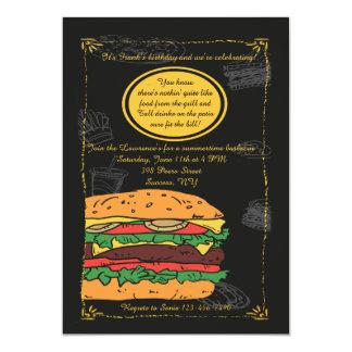 Classic Burger BBQ Invitation
