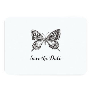 Classic Butterfly Personalised Save the Date Card 9 Cm X 13 Cm Invitation Card