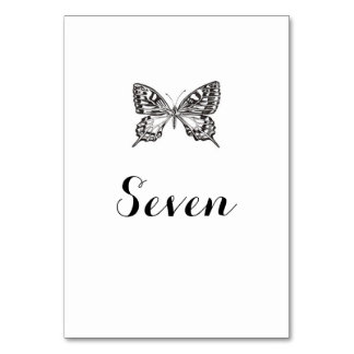 Classic Butterfly Table Names / Numbers Table Card