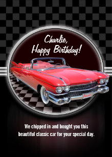 Birthday For Car Lovers Gifts Gift Ideas Zazzle Uk