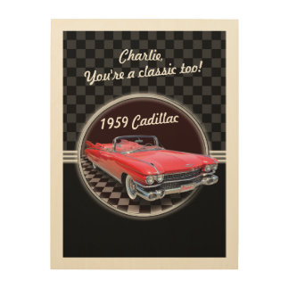 Classic Cadillac Wood Plaque Wood Print