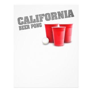 Classic California Beer Pong Custom Flyer