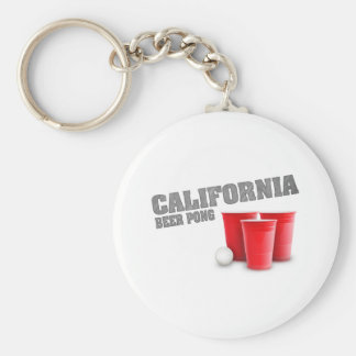 Classic California Beer Pong Key Chain
