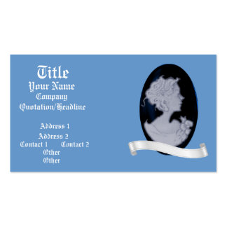 Classic Cameo Blue Wedding Business Card Template
