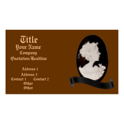 Classic Cameo (Ivory/Brown) Business Cards