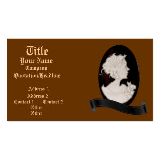 Classic Cameo Ivory Brown Business Cards
