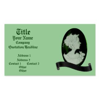 Classic Cameo Jade Green Business Cards