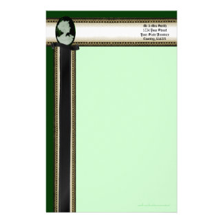 Classic Cameo (Jade/Green) Personalized Stationery