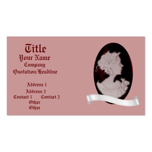 Classic Cameo (Rose) (Wedding) Business Card Templates