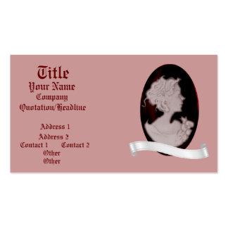 Classic Cameo Rose Wedding Business Card Templates