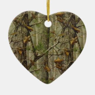 Classic Camouflage Ceramic Heart Decoration