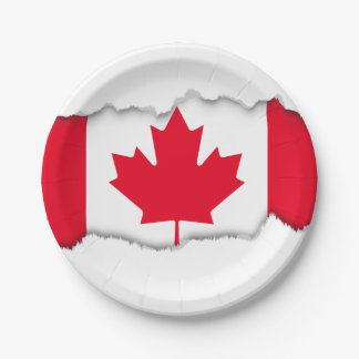 Classic Canada Flag Paper Plate