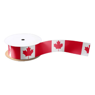 Classic Canada Flag Satin Ribbon