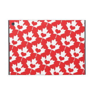 Classic Canadian Flag Maple Leaf with Heart Case For iPad Mini