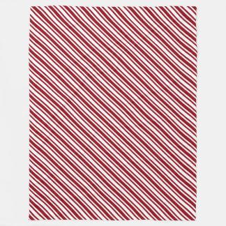 Classic Candy Cane Stripe Fleece Blanket