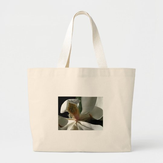 "Classic Canvas Bag, ""The Secret Magnolia"" Large Tote Bag"