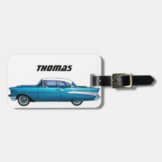 Classic car 1957 Chevy BelAire luggage tag
