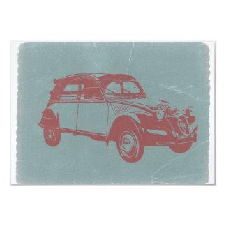 Classic Car 9 Cm X 13 Cm Invitation Card
