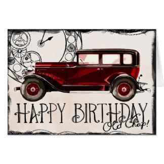 Classic Car Birthday Cards Invitations Zazzle Co Uk
