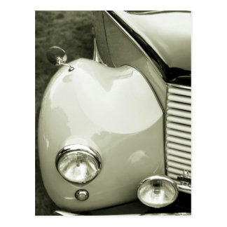 Classic Car - Black And White Photograph Postcard