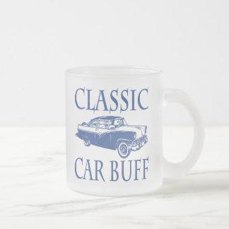 Classic Car Buff Frosted Glass Mug