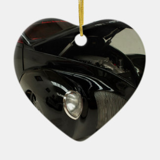classic car ceramic heart decoration