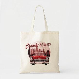 Classic Car Chevrolet Bel Air 1956 Tote Bags