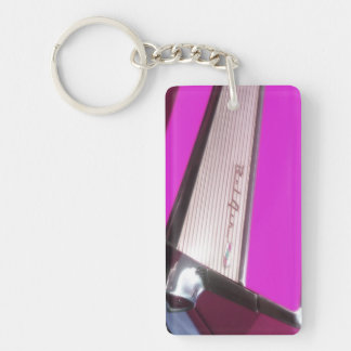 Classic car: Chevrolet Bel Air Double-Sided Rectangular Acrylic Key Ring