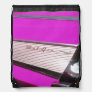 Classic car Chevrolet Bel Air Drawstring Bag