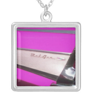 Classic car: Chevrolet Bel Air Silver Plated Necklace