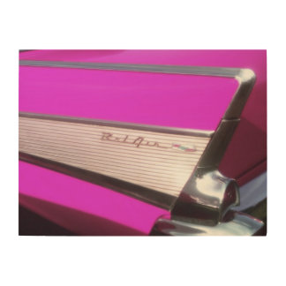 Classic car: Chevrolet Bel Air Wood Wall Art
